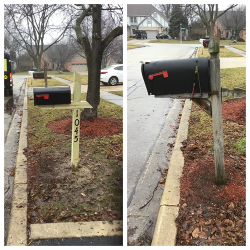 Install new mailbox for homeowner