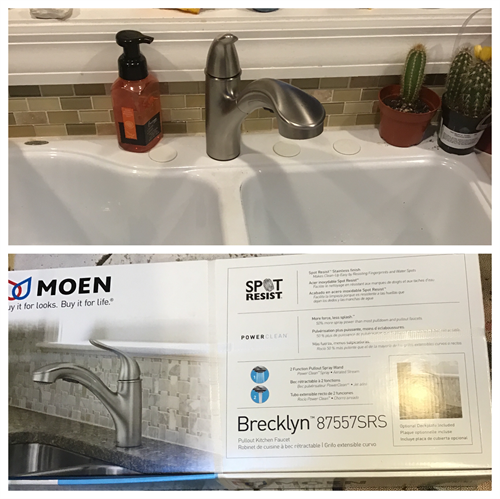 Install new kitchen faucet