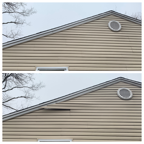 Repair fascia on second story of home