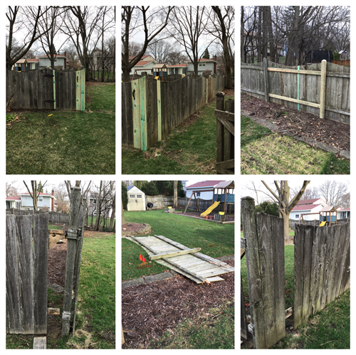 Repair wooden fence