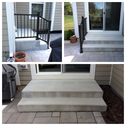Install hand railings on porch stairs