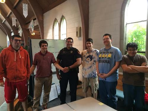 "Wheaton Police Dept Conduct 'Be Safe Class"" for CWA Students"