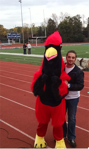 Foster the Cardinal - Team Mascot at 2015 Homecoming Football Game
