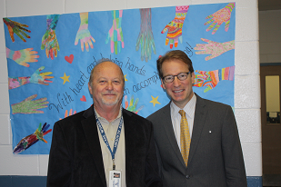 U.S. Congressman Peter Roskam and Executive director John Utterback
