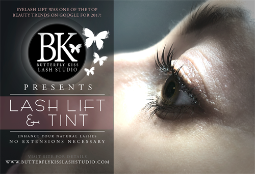 We now offer a beautiful Lash Lift + tint for your natural lashes