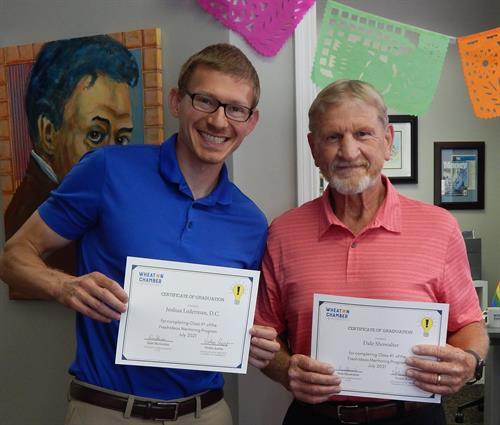 Wheaton Chamber mentor program graduation