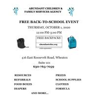 Donations Needed for October 1 Backpack Event