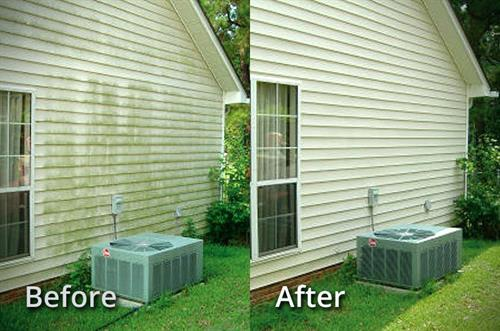 Before and after or home pressure wash