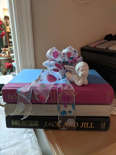 Book stack decoration