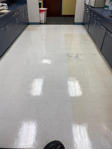 Floor: Strip, Wax, Buff