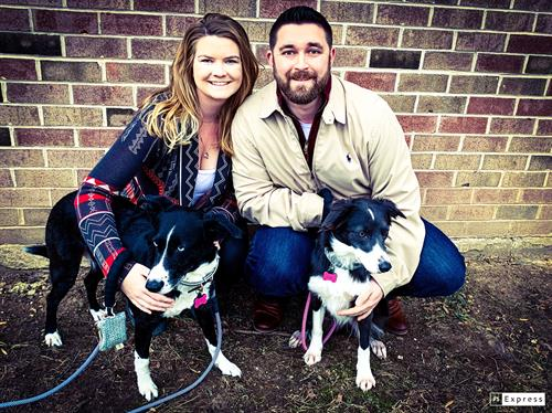 Drs. Richie & Molly with their 2 Chiropractic Pups!