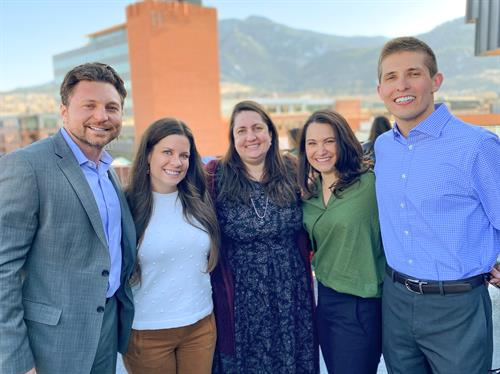 The Boulder team - Andrew Sauer, Stephanie Miller, Charlene Garcia, Adrianne Tracy, and Zac Claeys
