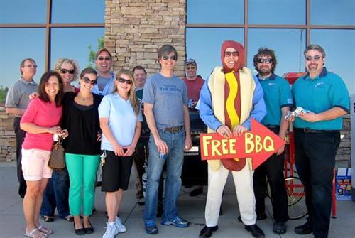 Free Summer BBQs with Hot Dog Man