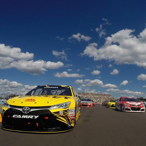 NASCAR action at Watkins Glen International.