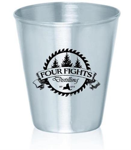 Aluminum shot glasses for Four Fights Distilling
