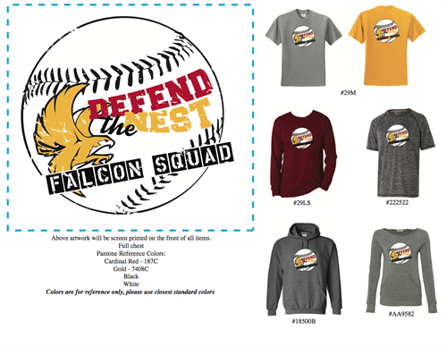 Apparel options for Finger Lakes Falcons Baseball