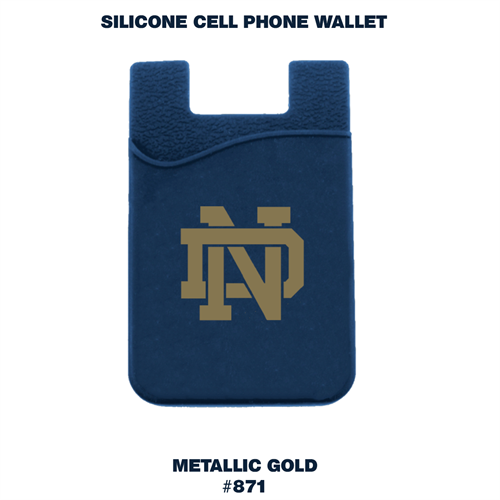 Silicone Phone Wallet for Notre Dame High School
