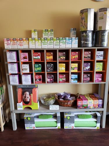 We have a variety of herbal teas by NOW Solutions and Good Earth.