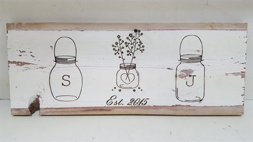 Custom sign on barn board.