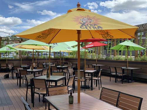 Enjoy our onsite outdoor patio and restaurant!