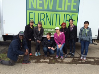 Volunteers helping in the NLF offices