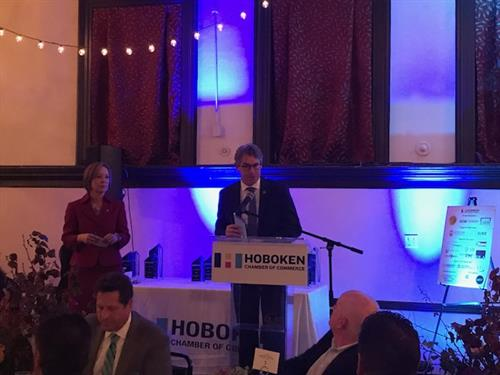 Being honored with The Technology/Innovator of the Year @Hoboken Chamber of Commerce 20177 Business Awards