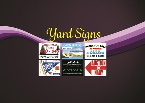 Outdoor Yard Signs
