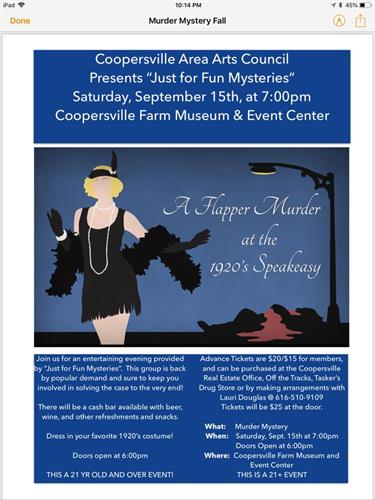 Annual Meeting/Murder Mystery Event every March