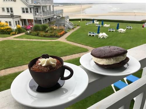 Enjoy your favorie breakfast on your balcony overlooking Ogunquit Beach