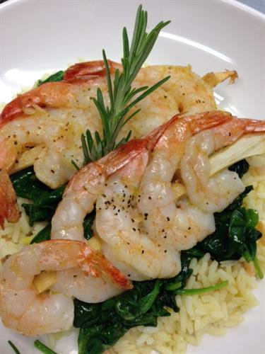Fresh Seafood dishes and daily specials offered in our Blue Bistro