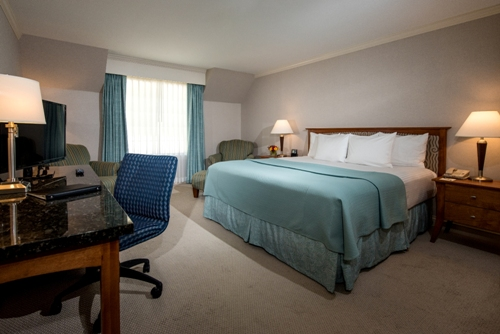 A Premium Room with one King bed (also offered with two Queen beds)