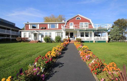 Fall Flowers - Main Inn Entrance