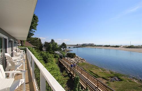 Front Motel Deck Overlooks Ogunquit River