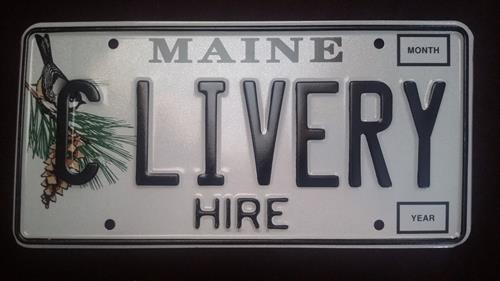 Our license plate for safety