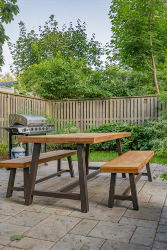 Enjoy grilling on our patio!