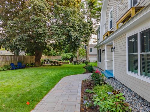 Our beautiful yard has lots of space to relax, enjoy and grill outside!