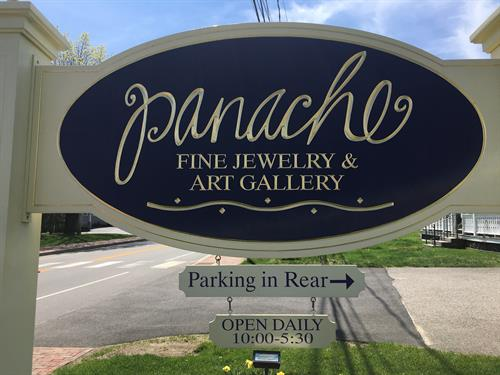 Parking while you shop at Panache