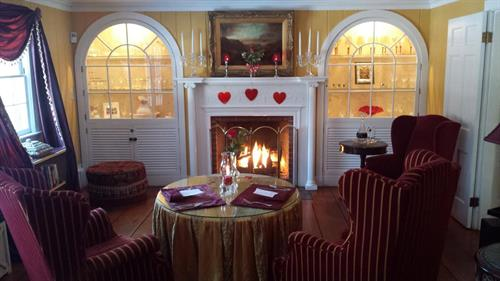 Hartwell House Inn Living Room - Valentines Day