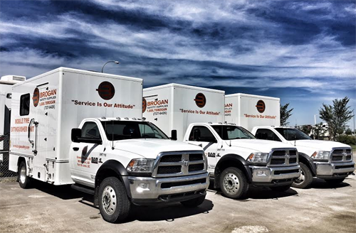 Our mobile trucks can do services on site.