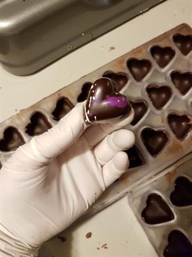 creating chocolate shells