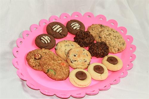 A variety of cookies available