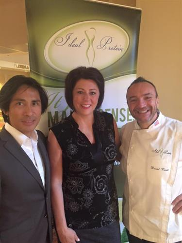 Michelle with Dr and Chef