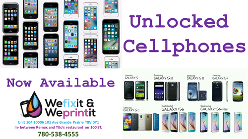 Unlocked cellphones available