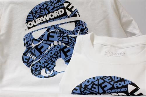 FOURWORD Stormtrooper DTG Printed Grpahic Tee