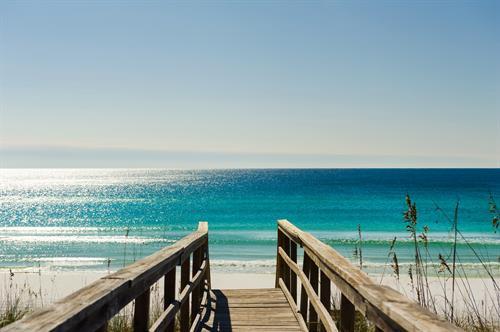 Private boardwalk to the beach