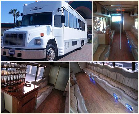 Party Bus Freightliner VIP Limo Bus (23 passengers) - $155/hr + Gratuity* (3 hr min.)