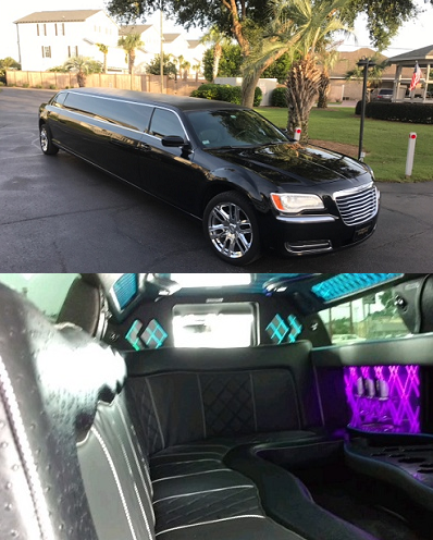 Chrysler 300 Super Stretch Limousine (10 passengers) - $90/hr + Gratuity* (3 hr min.)