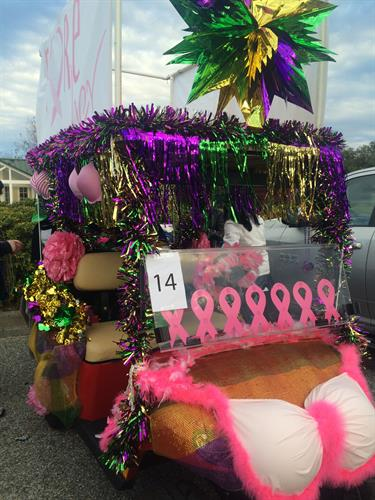 Fore Her at the Fat Tuesday Parade at The Village of Baytowne Wharf, Sandestin