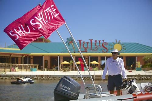 Shuttle in from your boat at LuLu's Destin!
