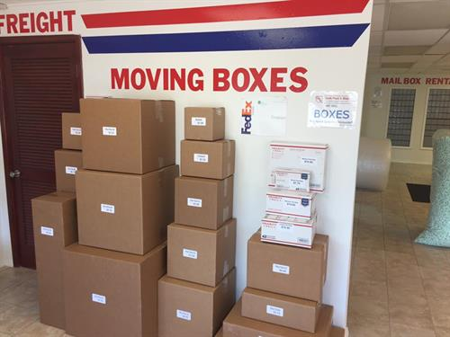 Shipping/moving boxes we sell.